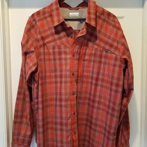 Columbia XL button down shirt